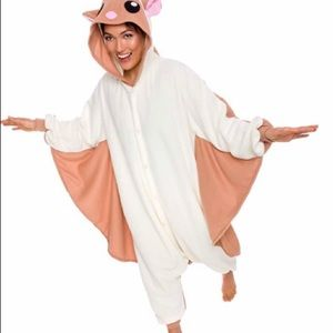 Flying squirrel onesie cosplay costume pjs small